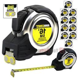 """10 Pack 16' FT x 3/4"""" Auto Locking Tape Measure Metric Stand"""