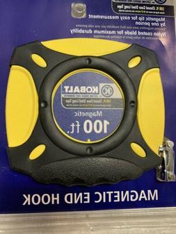 Kobalt,100ft Closed Reel Long Tape Measure, Nylon Coated Ste