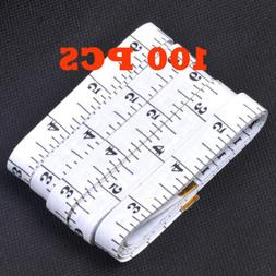 100PCS Measuring Ruler Sewing Cloth Tailor Body Fitness Tape