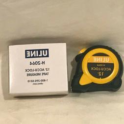 Uline 12 Foot Accu-Lock Tape Measure - H-2064 - New in Box -
