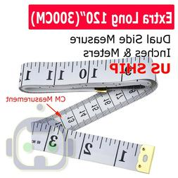 "120"" Body Measuring Ruler Sewing Cloth Tailor Tape Measure S"