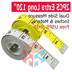 "2PCS 120"" Body Measuring Ruler Sewing Cloth Tailor Tape Meas"