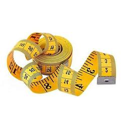 """120"""" Soft Tape Measure for Sewing Tailor Cloth Ruler,Yellow"""