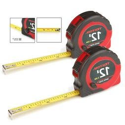2 Pack 12 Ft Tape Measure 1/2 Inch Wide Measuring Impact Res