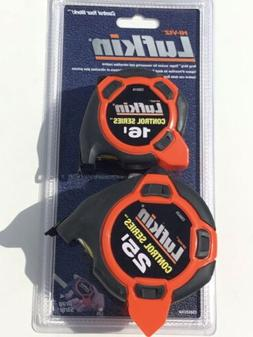 Lufkin 2-pack Control Series Tape Measure NEW 25' 16'