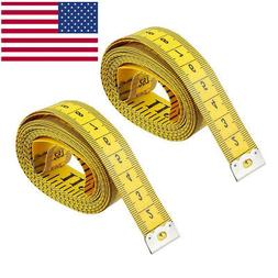 "2 pack New 120"" Body Measuring Ruler Sewing Cloth Tailor Tap"