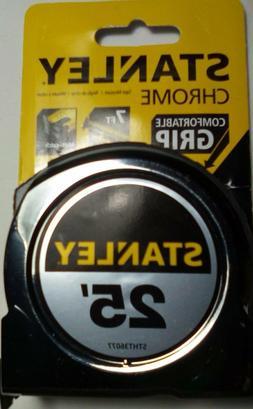 25' Tape Measure Stanley Chrome Fractional Read  Brand New