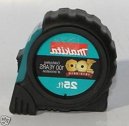 Makita 25' Tape Measure Nylon Coat, Rubber Grip, Belt Clip