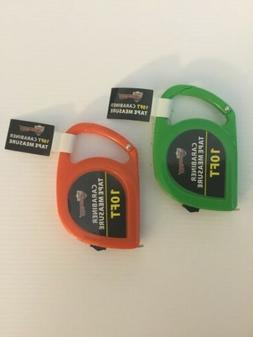 2pc 10ft CARABINER TAPE MEASURE ASSORTED COLOR