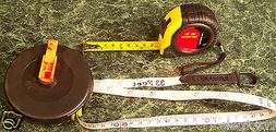 2pc TAPE MEASURE SAE and METRIC 16 Foot LOCKING / 33 Ft ROLL