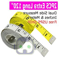 """2PCS 120"""" Body Measuring Ruler Sewing Cloth Tailor Tape Meas"""