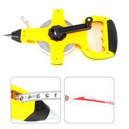 Surveyor Tape Builders Measuring Tape Reel Roll Measure 30M