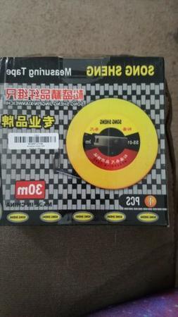 30m Hand Disc Ruler Carpenter Metric Measuring Meter Tape Me