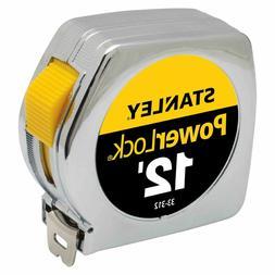 Stanley Tools 33-312 12ft. PowerLock Tape Measure, Chrome