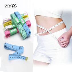 3x 150CM Flat Tape Measure for Tailor Sewing Cloth Soft Body