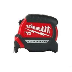 Milwaukee 48-22-0325 25 ft Compact Magnetic Tape Measure w/