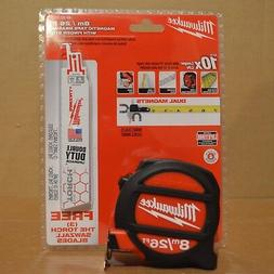 Milwaukee 48-22-5225P 8M/26FT 26' Magnetic Tape Measure + 3)