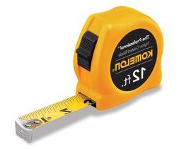Komelon USA 416-4912 5-8 Inchx12' Yellow Case Steel Power Ta