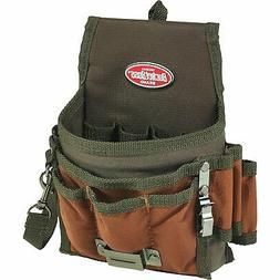 Bucket Boss Tool Pouch with FlapFit in Brown, 54140