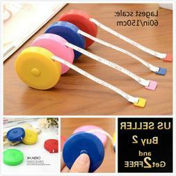 "60""/150cm Tape Measure Body Measuring Ruler Sewing Cloth Tai"