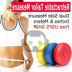 "60"" Body Measuring Tailor Tape Ruler Sewing Cloth Measure Se"