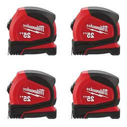 Milwaukee 48-22-6625 25' Heavy Duty Compact Tape Measure, 4-