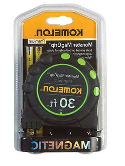KOMELON 7130 Magnetic Tip Tape Measure, 1 In x 30 ft