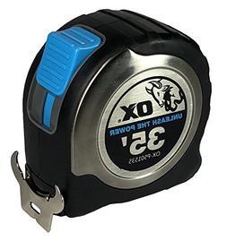 OX Tools 9341231016578 35' Stainless-Steel Tape, Measure 1 1