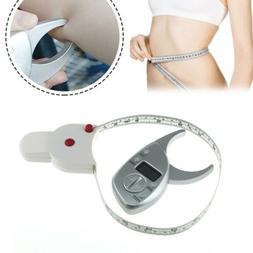 Body Fat Caliper Set Digital Monitor +Waist Measuring Arm Hi