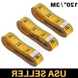 Tailor Seamstress Clothes Body Ruler Tape Measure Sewing Yel
