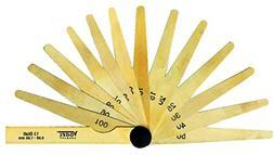 Brass Feeler Gauge, 13 bl. 0,05-1,00mm, blades made from bra