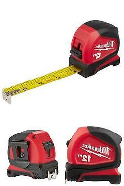 Milwaukee Compact Tape Measure, 12 16 25 or 30, Belt Clip, R