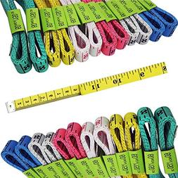 6 Colors FF Elaine 24 Pcs Double-Scale 60-Inch//150cm Soft Tape Measure Ruler Bulk for Sewing Tailor Cloth