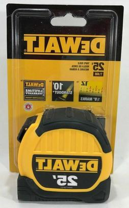 NEW DEWALT DWHT33975 25' TAPE MEASURE HEAVY DUTY 13 FOOT ST