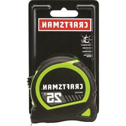 Easy Read High Visibility 25 ft Tape Measure with Durable Bl