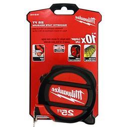 MILWAUKEE ELEC TOOL 48-22-5125 Magnet Tape Measure, 25'