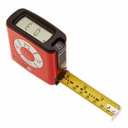 eTape16 ET16.75-db-RP Digital Tape Measure, 16 Feet, Red