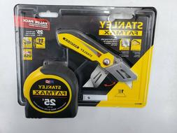 Stanley Fatmax 25 ft. Tape Measure with Bonus Fixed Blade Fo