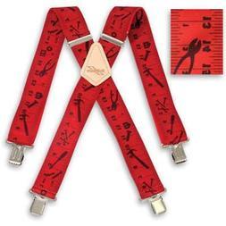 "Brimarc Heavy Duty Braces Trouser Belt Suspender 2"" 50mm Wid"
