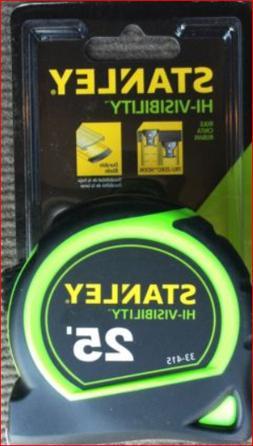 Stanley ~ Hi-Vis - 25 Foot 1 Inch Tape Measure