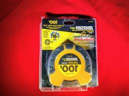 Johnson 100ft. Steel Enlosed Case Tape Measure Brand New MAK