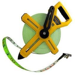 Komelon 6633 Open Reel Fiberglass Tape Measure, 300-Feet 300