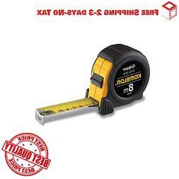 Komelon PG85 8m x 25mm Metric Gripper Tape Measure, Black
