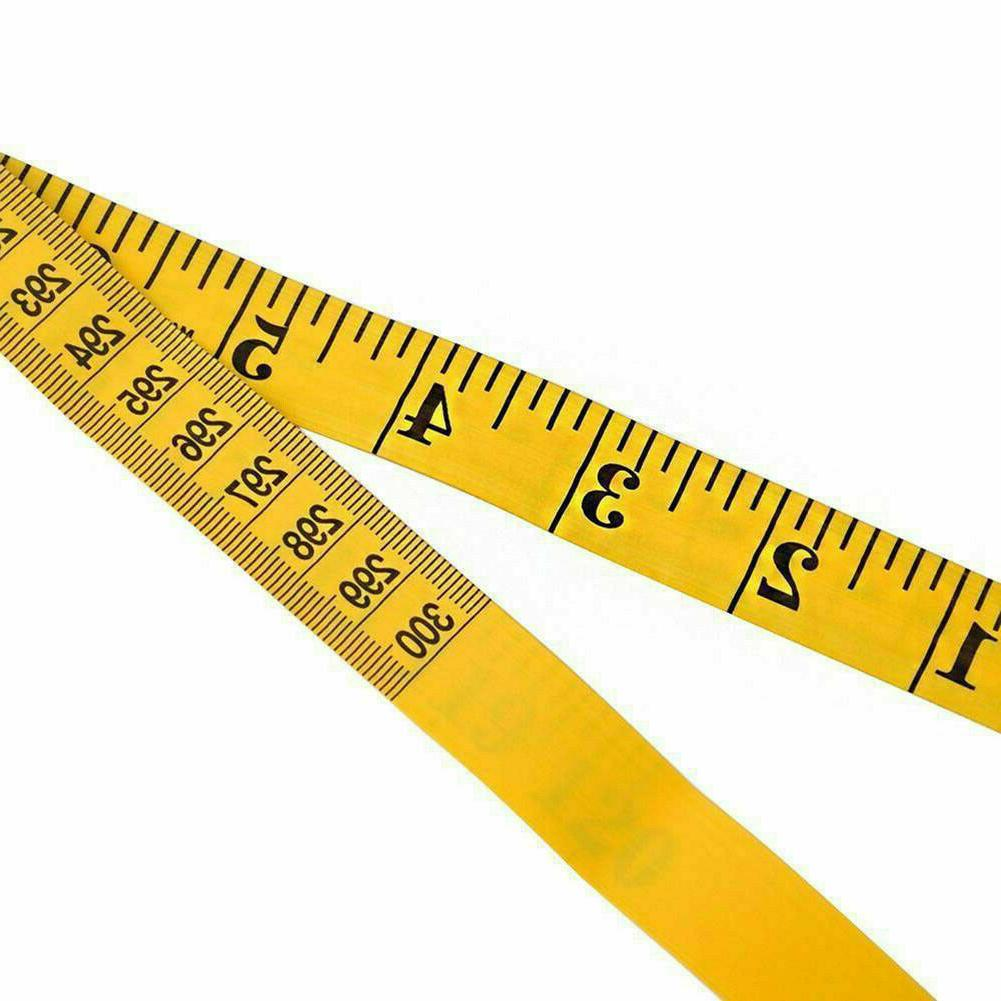 "Yellow 120"" Ruler Sewing Cloth Tailor Tape Measure"