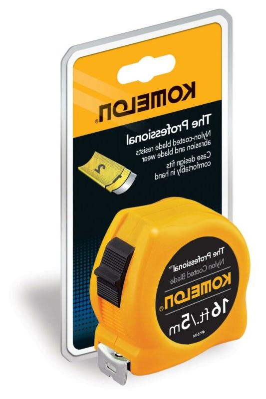 Komelon 16-Foot/5-Meter Professional Inch/Metric Tape Measur