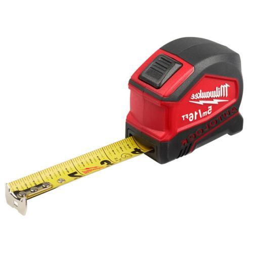 Milwaukee 16 ft Lock Tape Measure mm Measuring Tool Clip