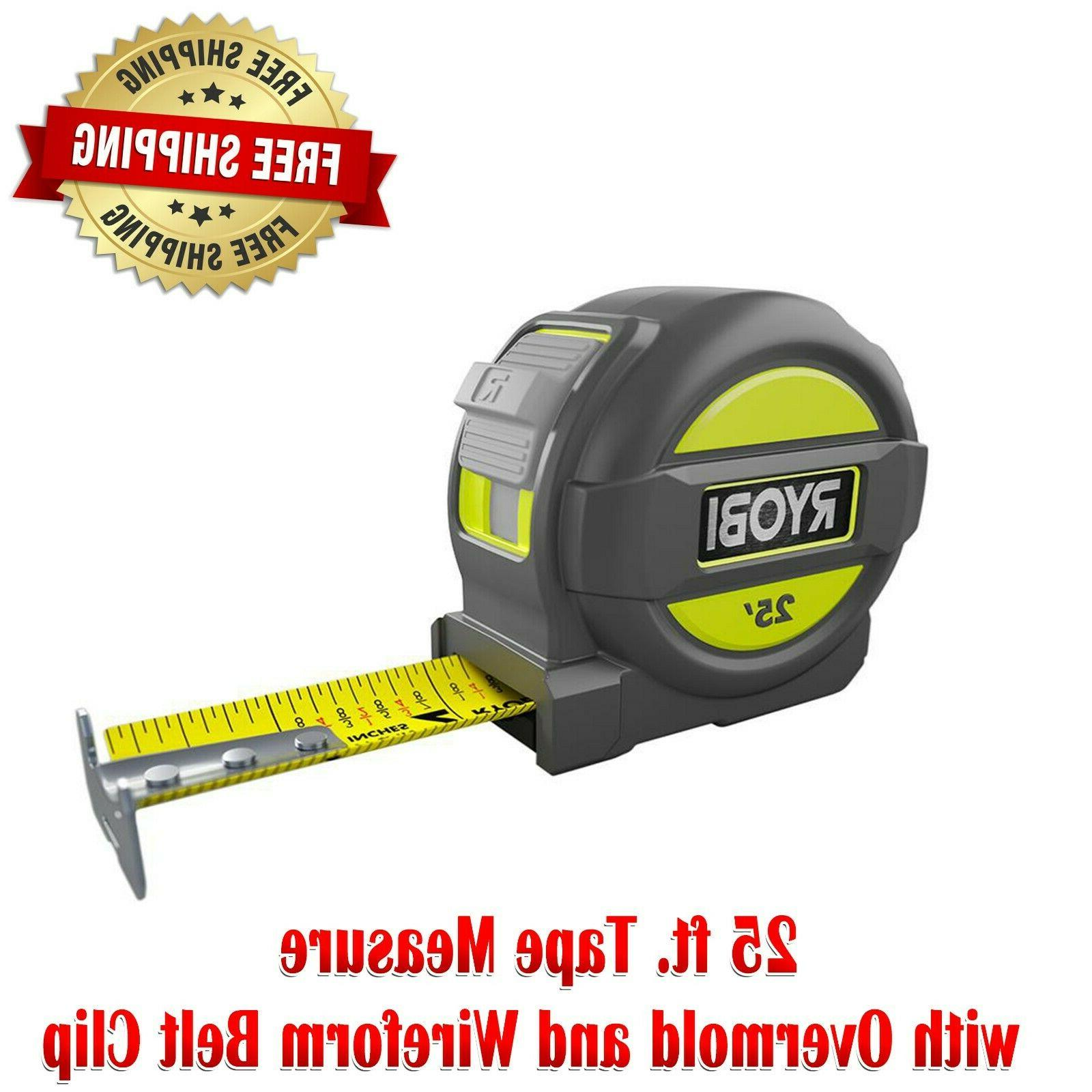 25 foot tape measure with overmold