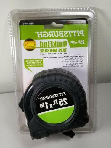 25 ft.x 1in.Tape Measure Pittsburgh QuikFind Standard, Inche