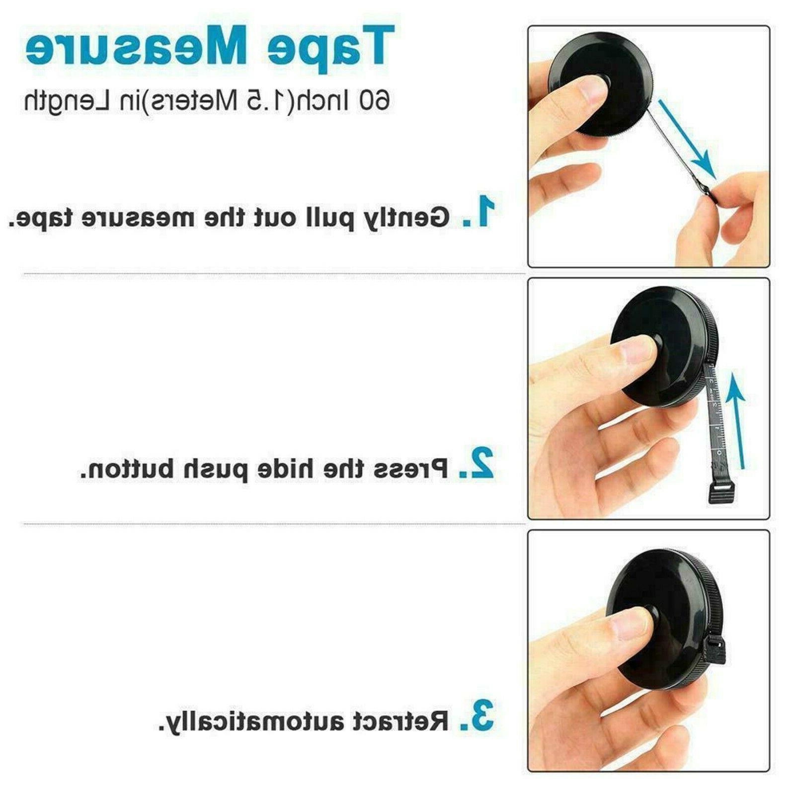 "60"" Measuring Tape Ruler Cloth Measure Soft Flat"
