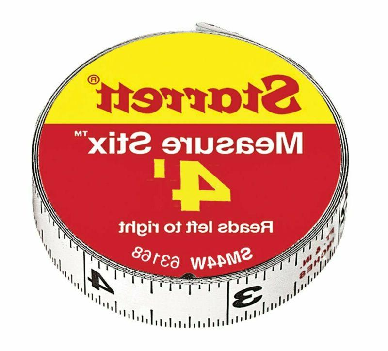 Starrett 63168 SM44W Steel Tape Measure with Adhesive Back,